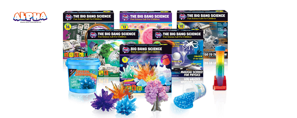 Children's Day banner-fun science experiments toys